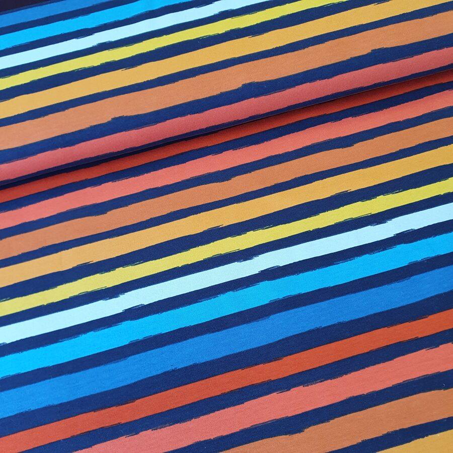 Līniju varavīksne cilpiņu trikotāža