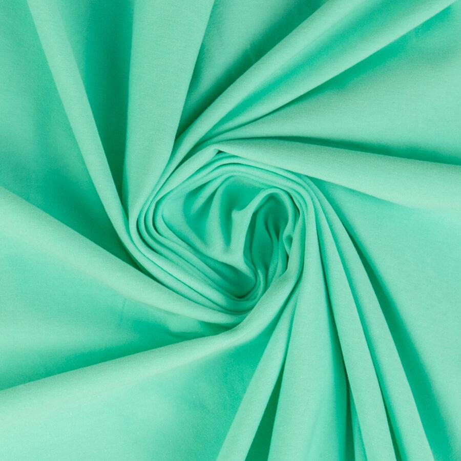 Mint krāsas plānā kokvilnas trikotāža