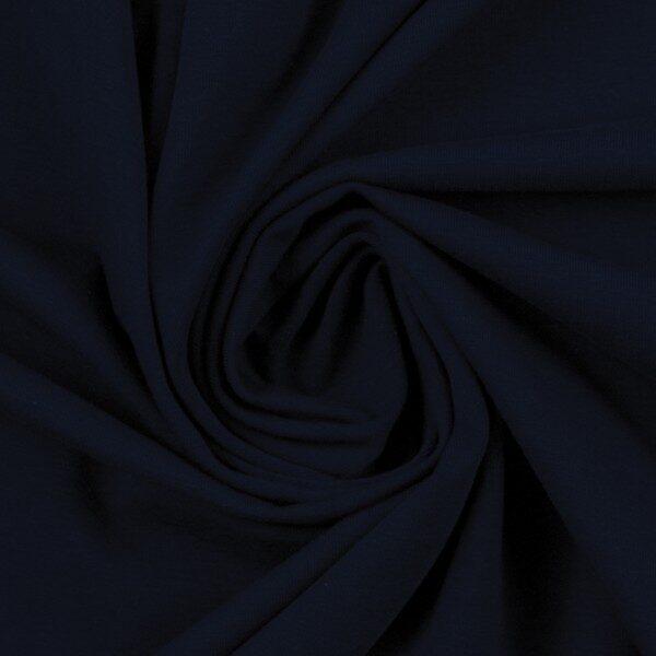 Tumši zila kokvilnas trikotāža 220 gr/m2