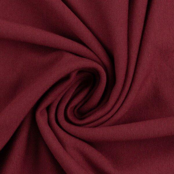 Burgundijas sarkana kokvilnas trikotāža 220 gr/m2