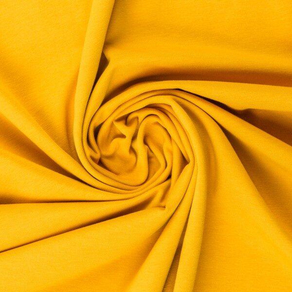 Dzeltena kokvilnas trikotāža 220 gr/m2