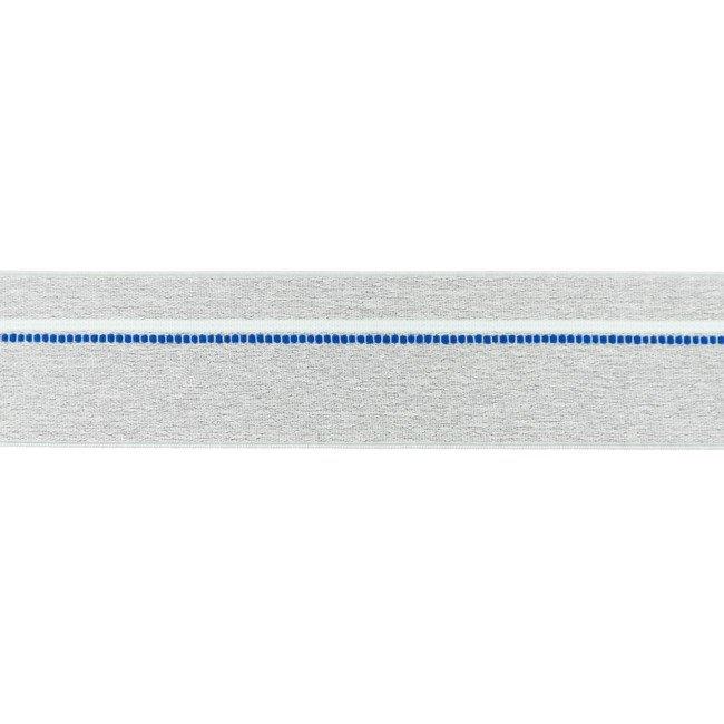 Gumija bokseršortiem ar zilu un baltu strīpu 4 cm