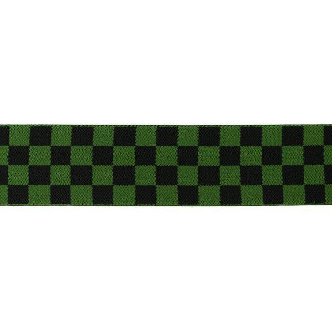Gumija bokseršortiem ar kubiņiem zaļš/melns