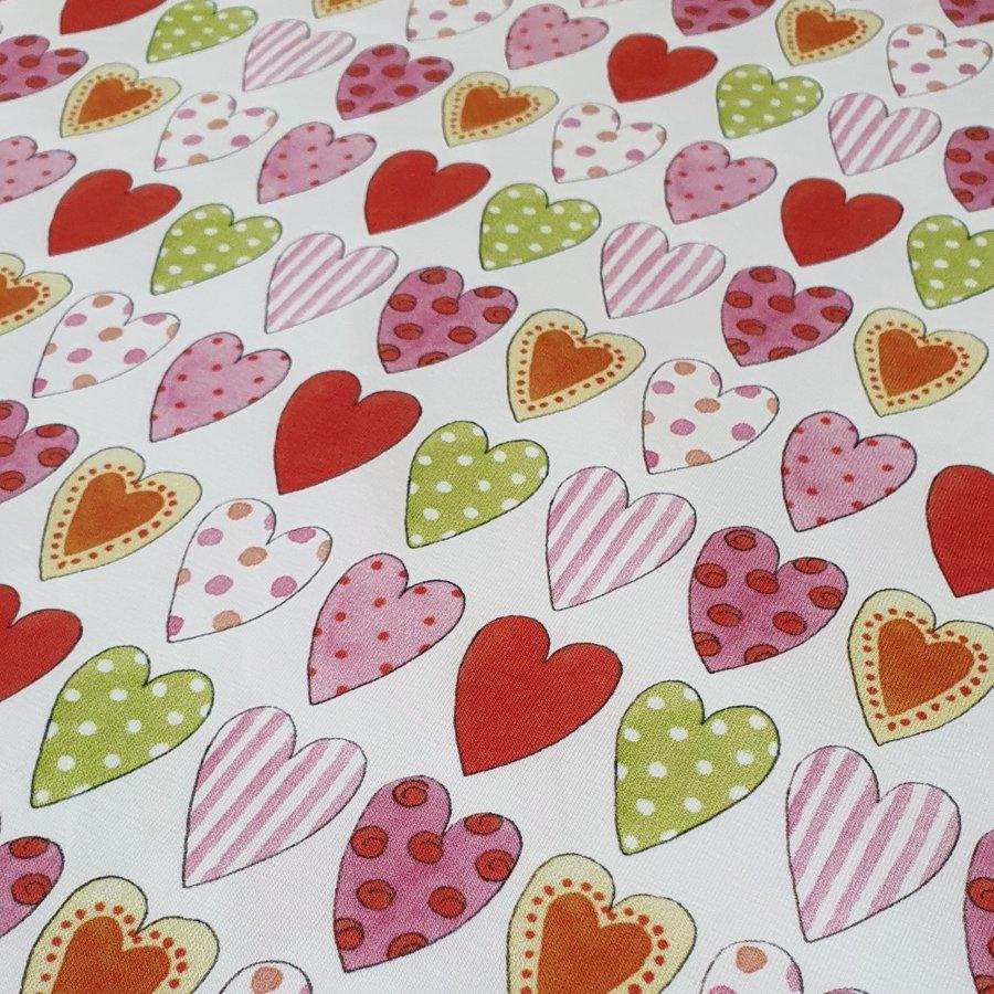 Lielās sirdis, plānā kokvilnas trikotāža, limitēta kolekcija