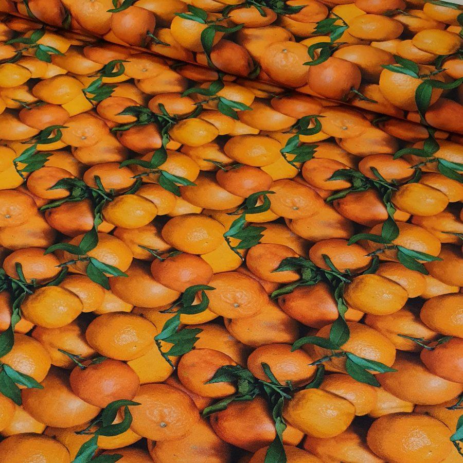 Mandarīni plānā kokvilnas trikotāža