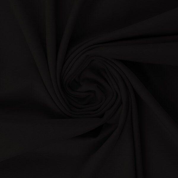 Melna kokvilnas trikotāža 200 gr/m2