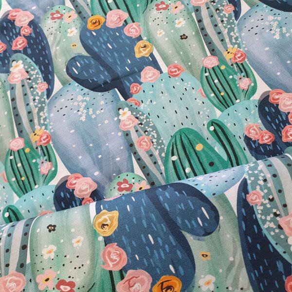 Kaktusi plānā kokvilnas trikotāža