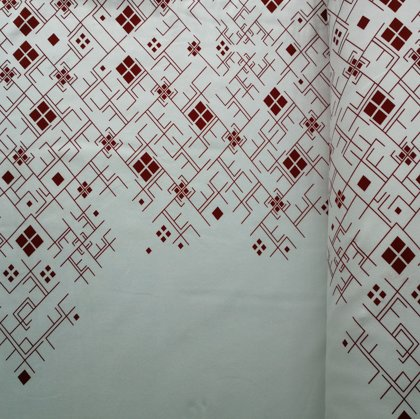 Red Patterns on white background (on preorder)