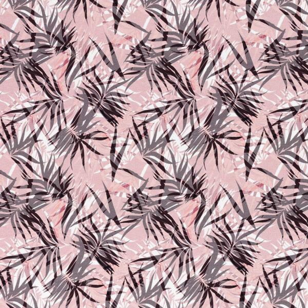 Lapas uz rozā fona plānā kokvilnas trikotāža ( pieejams no 8.-9. aprīļa)